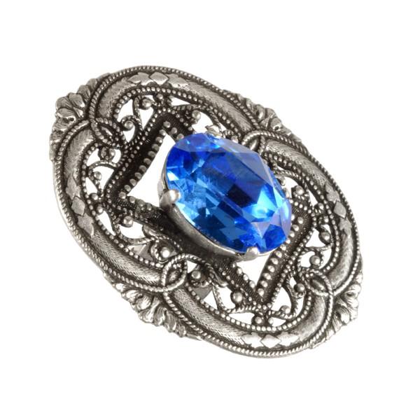Bijoux Argent Filigrane : Bijou bague filigrane ovale vieil argent bijouterie