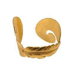 Bracelet 3 Plumes Doré