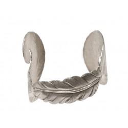 3 Silvery Feathers Bracelet