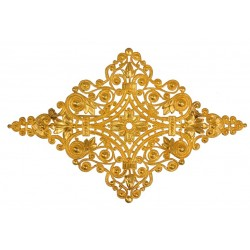 Golden Diamond-Shaped Brooch