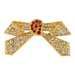 Golden Bow Tie Brooch