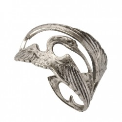 Silvery Storks Ring