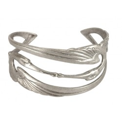 Bracelet 2 Cigognes Argenté