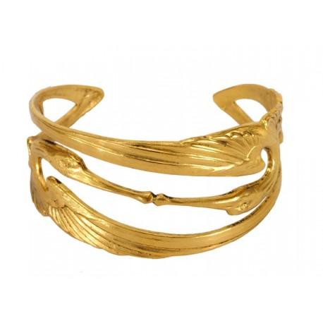 Bracelet 2 Cigognes Doré