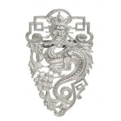 Broche Grande Dragon Argentée