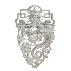 Big Silvery Dragon Brooch