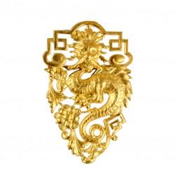 Big Golden Dragon Brooch