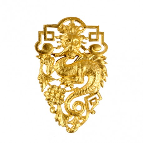 Broche Grande Dragon Doré