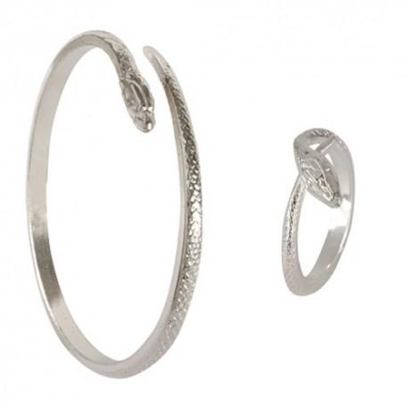 Parure Serpent (Bague + Bracelet) Argentée