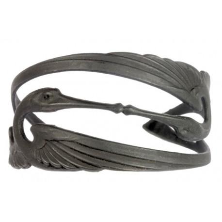 Bracelet 2 Cigognes Noir