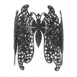 Bracelet 3 Butterflies Black color