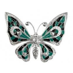 Bague Papillon Grand Argente Lacque
