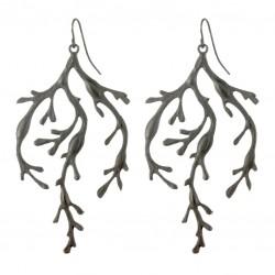 Black color algas earrings