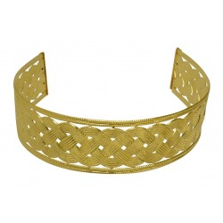 Gold plated braid headband