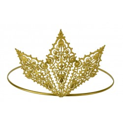 Gold plated three diamond crown