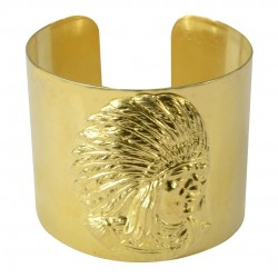 gold plated indian head bracelet