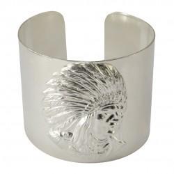 Bracelet Tete d'Indien Argenté