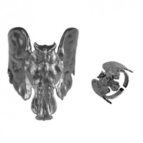 """Canon De Fusil"" Owl (Ring + Bracelet)"