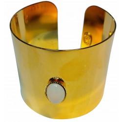 Manchette pierre ovale doré