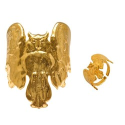 Golden Owl (Ring + Bracelet)
