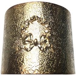 Manchette texture couronne feuillage argenté