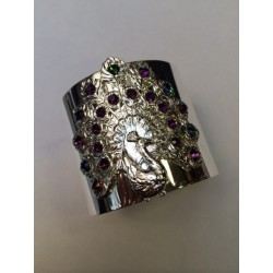 Bracelet Paon argenté