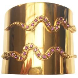 Bracelet 2 serpents doré