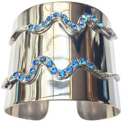 Bracelet 2 serpents argenté