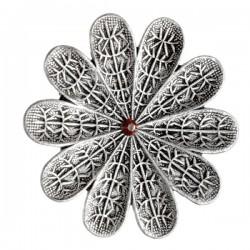 Silvery  Flower Ring