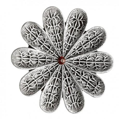 Bague Fleur Argentée