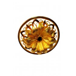 gold plated flower ring