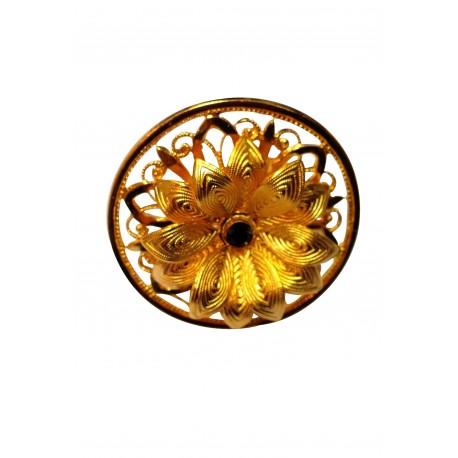 Bague Fleur dorée