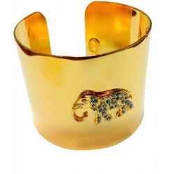 Bracelet elephant doré