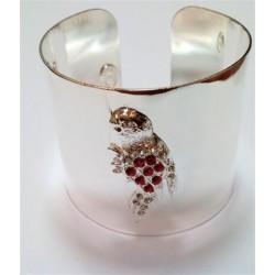 Bracelet perroquet argenté
