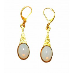 gold plated with stone earrings