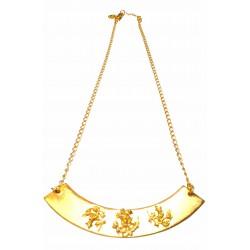 Collier sur arc motifs floraux doré