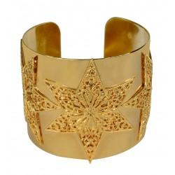 gold plated three stars bracelet