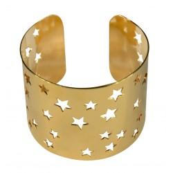 gold plated stars bracelet