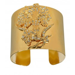 gold plated simili flower bracelet