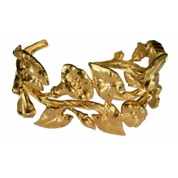 gold plated big leaves BRACELET