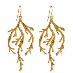 Gold plated Algae  Earrings