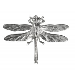 silver plated dragonfly brooch