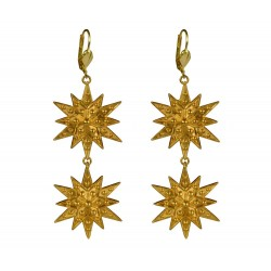 gold plated stars earrings