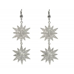 silver plated stars earrings