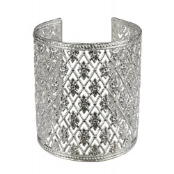 old silver plated LACE bracelet