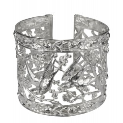 silver plated shallow bracelet