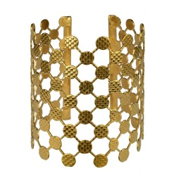 gold plated atoms bracelet