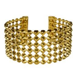 gold plated punk bracelet