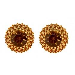 Gold plated Artichoke Earrings