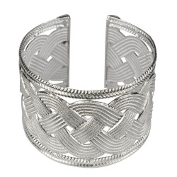 silver plated braided bracelet